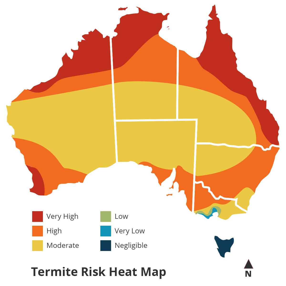 termite risk heat map